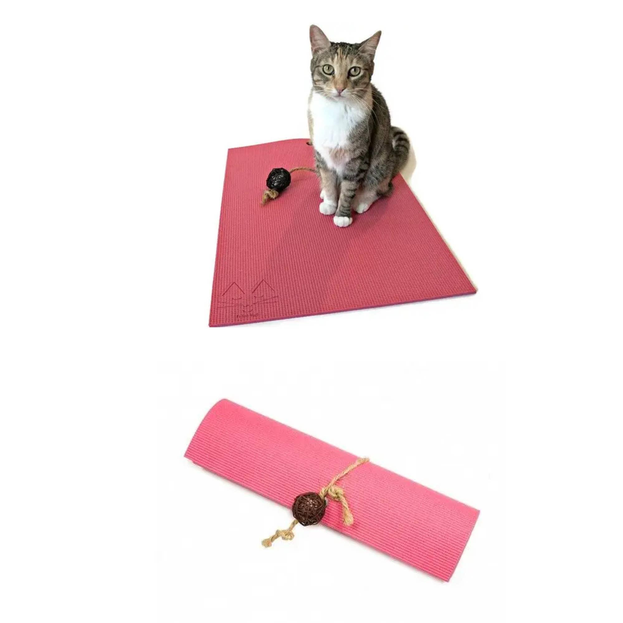 Pink Yoga Cat Mat   Trada Marketplace