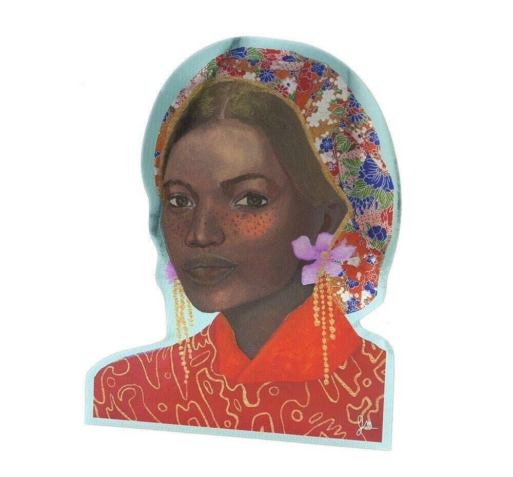 Portrait 9 Art Sticker | Trada Marketplace