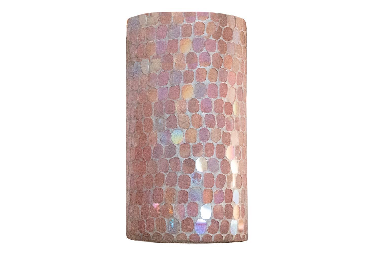 Pink Mosaic Glass Candle Votive + Vase   Trada Marketplace
