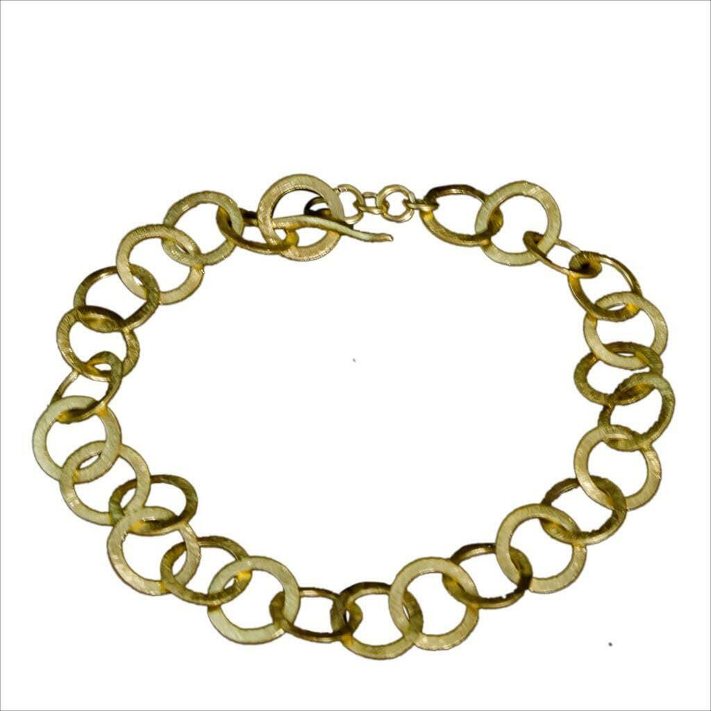 20% OFF Brushed Vermeil Links Bracelet   Trada Marketplace
