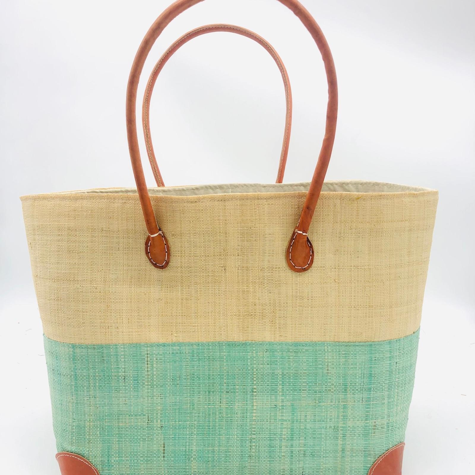 Trinidad Two Tone Straw Basket - ClearWater | Trada Marketplace