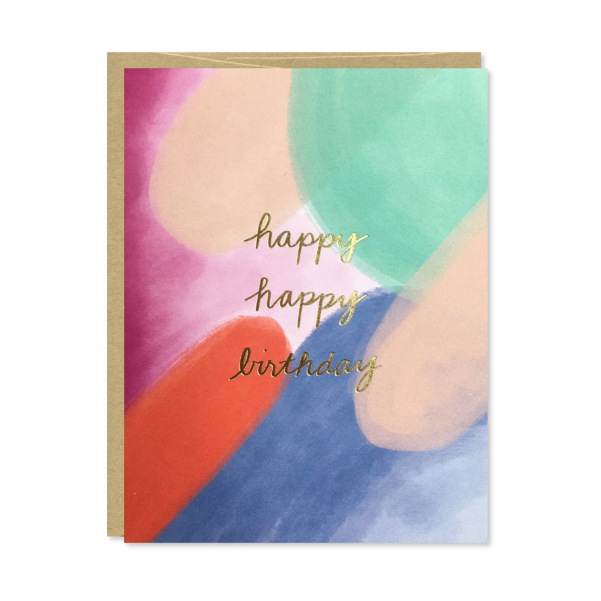 Happy Happy Birthday Gold Foil Card | Trada Marketplace