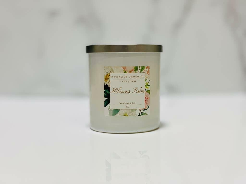 Hibiscus Palm Candle   Trada Marketplace