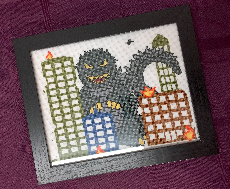 Monster Mayhem Counted Cross Stitch DIY KIT   Trada Marketplace