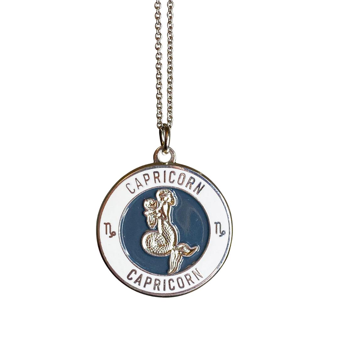 Capricorn Enamel Zodiac Pendant   Trada Marketplace