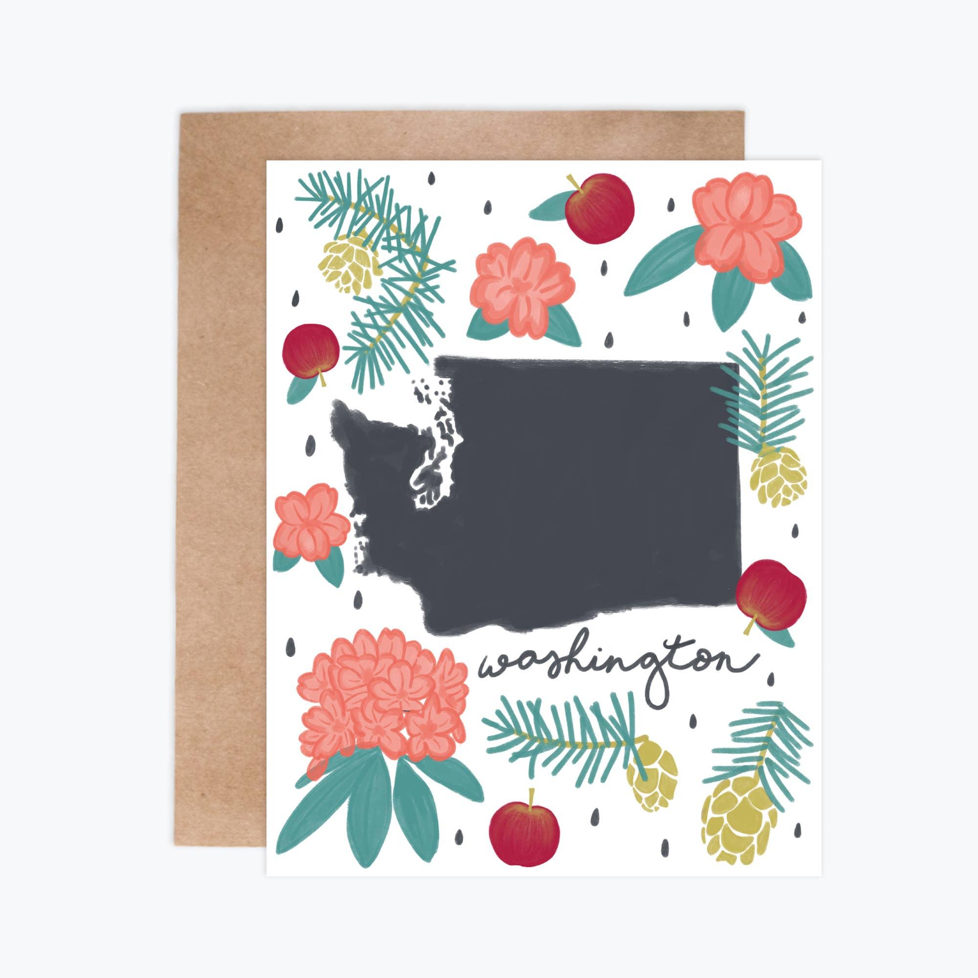 Washington Fresh State - Notecards   Trada Marketplace