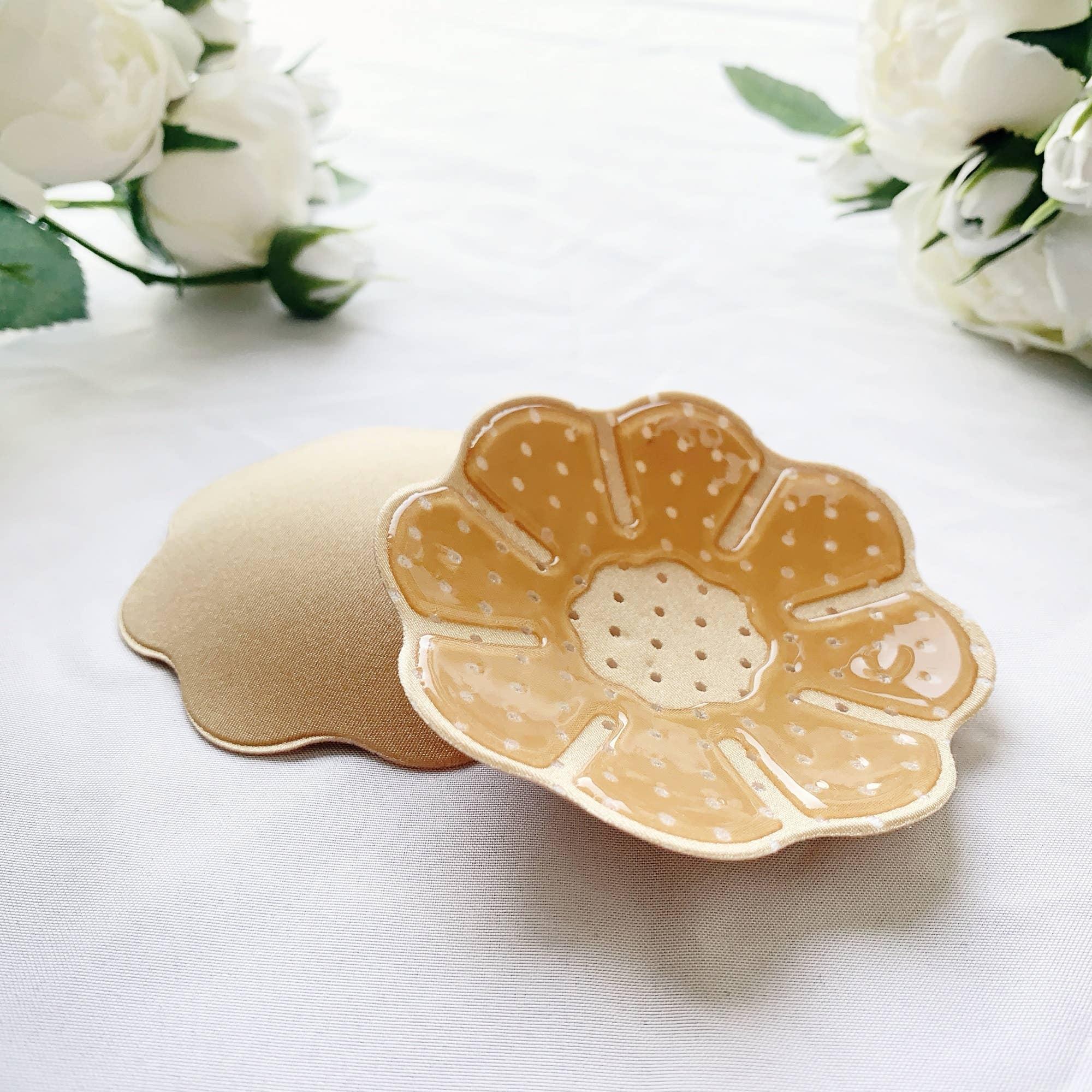 Flower Fabric Nipple Cover - Beige | Trada Marketplace