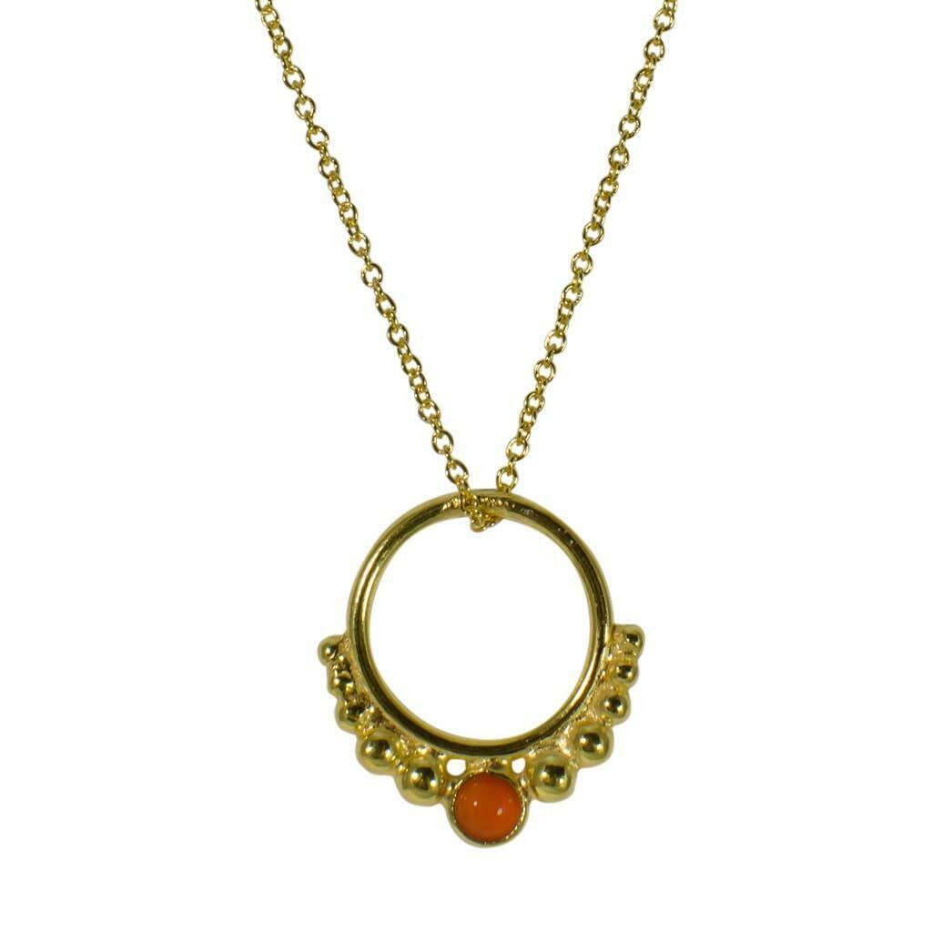 20% OFF Carnelian Vermeil Hoop Pendant Necklace   Trada Marketplace