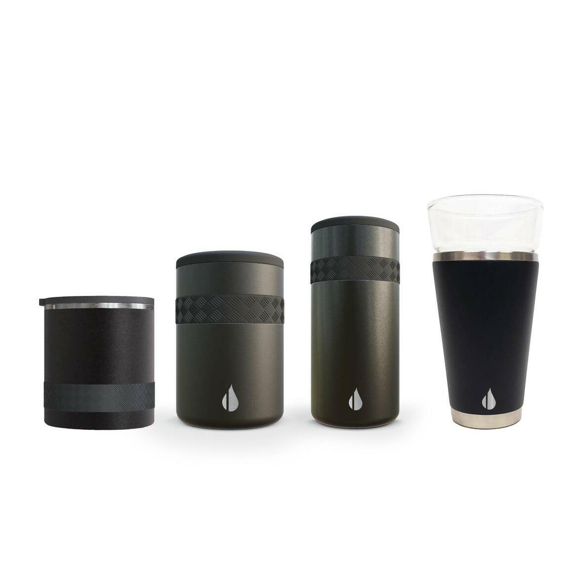 Sample Pack of Elemental Recess Drinkware Products - Black   Trada Marketplace