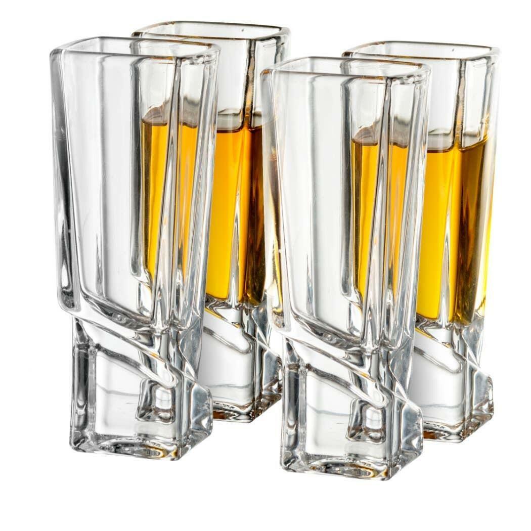 Carre Shot Glass 1.8oz (Set of 4)  | Trada Marketplace