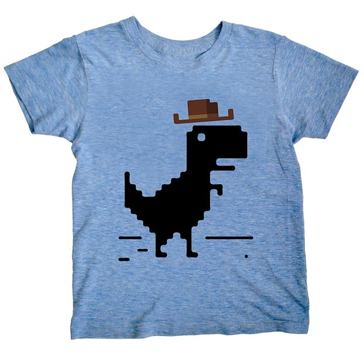 Dino Cowboy - Triblend - Blue | Trada Marketplace
