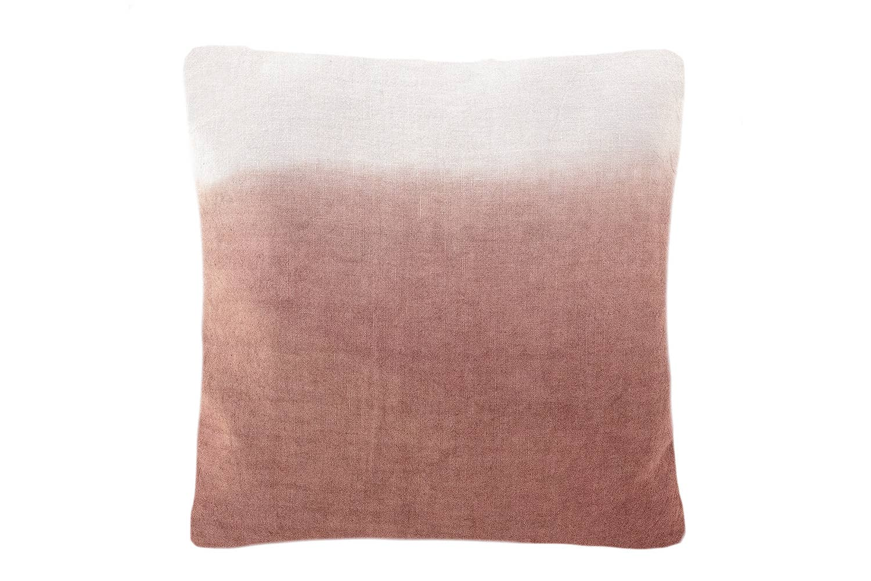 Terracotta Ombre Dyed Linen Pillow   Trada Marketplace