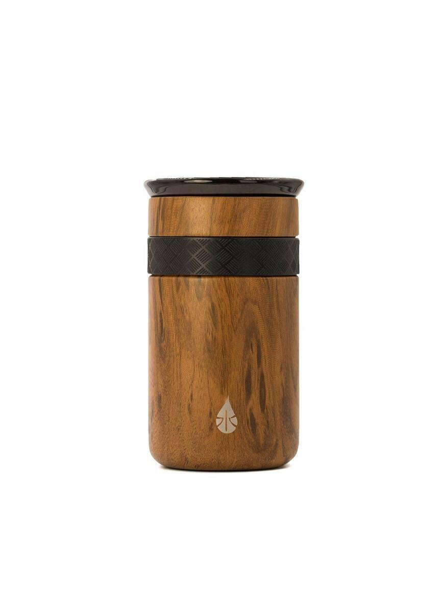 Artisan 12oz Teak Wood Tumbler with ceramic lid   Trada Marketplace
