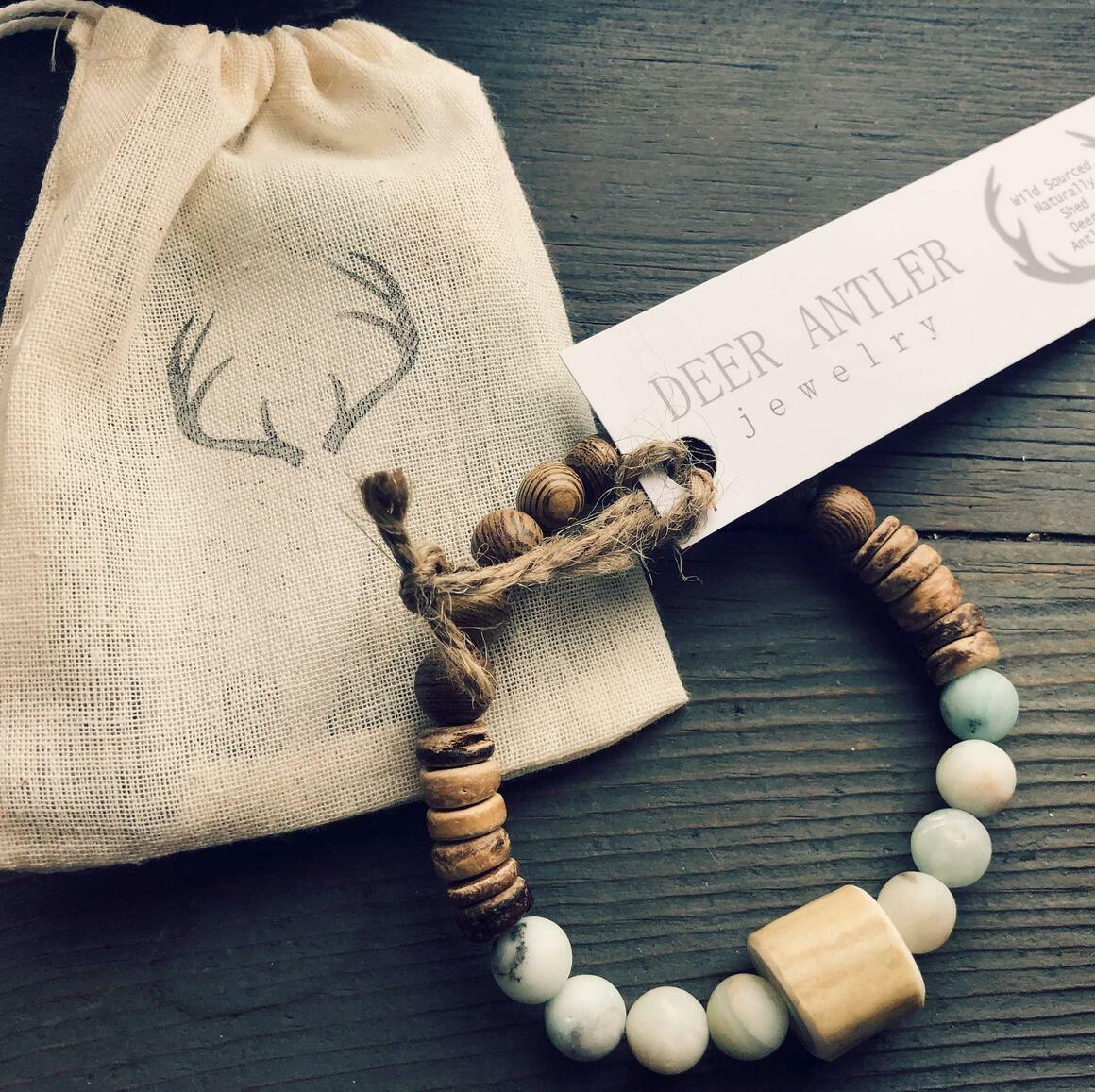 Antler and Gemstone Bracelet   Trada Marketplace