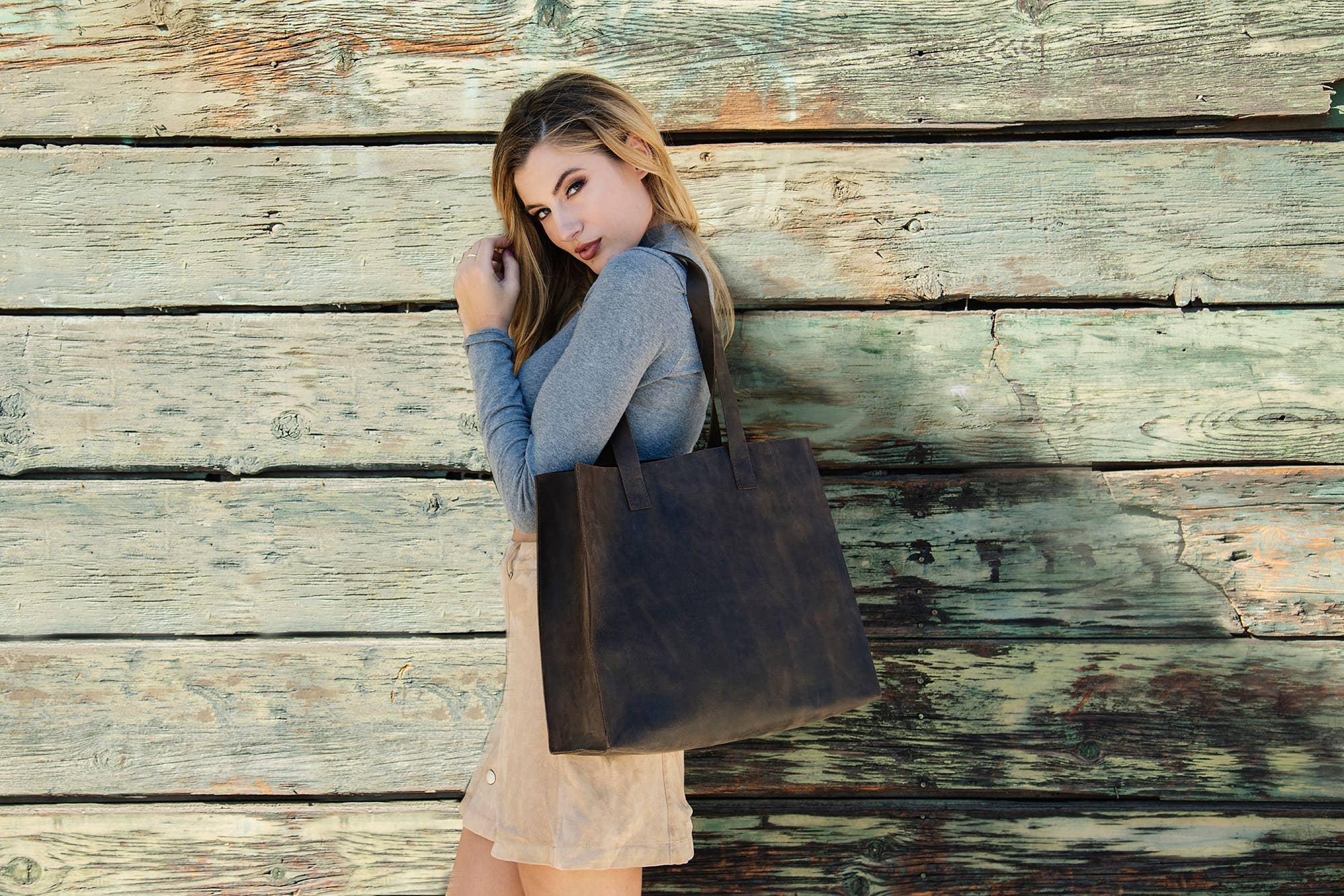 Raw Edge Tote Bag   Trada Marketplace