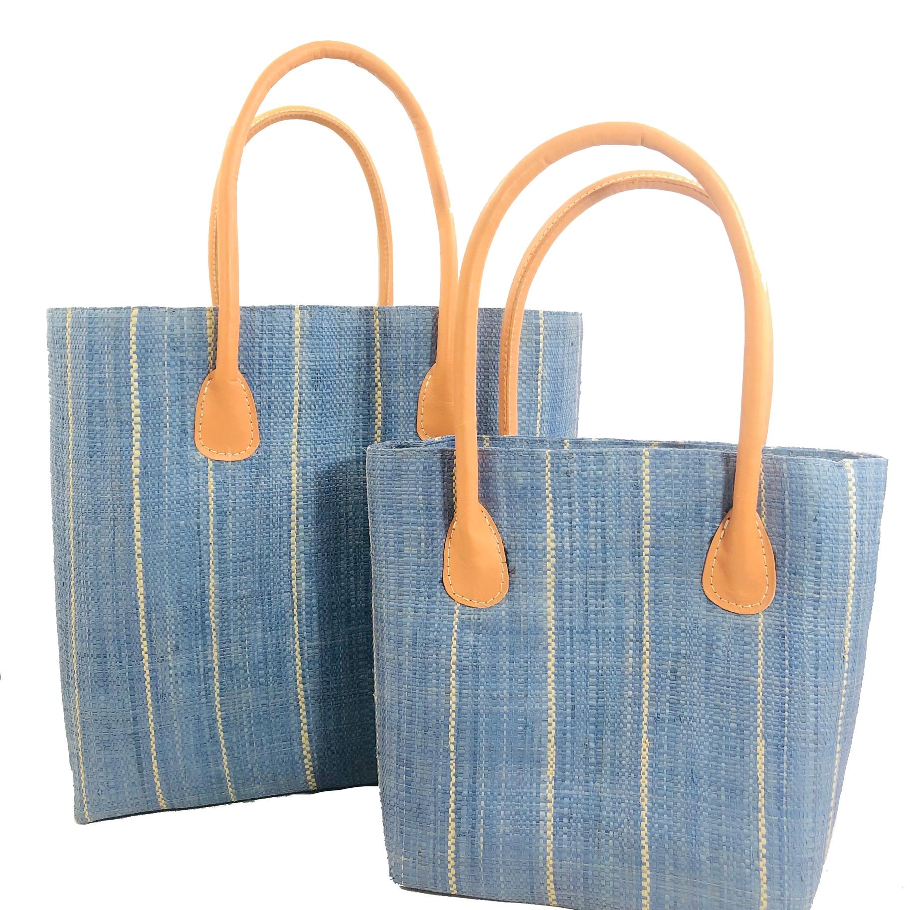 Soubic Pin Stripes Basket - Cornflower | Trada Marketplace