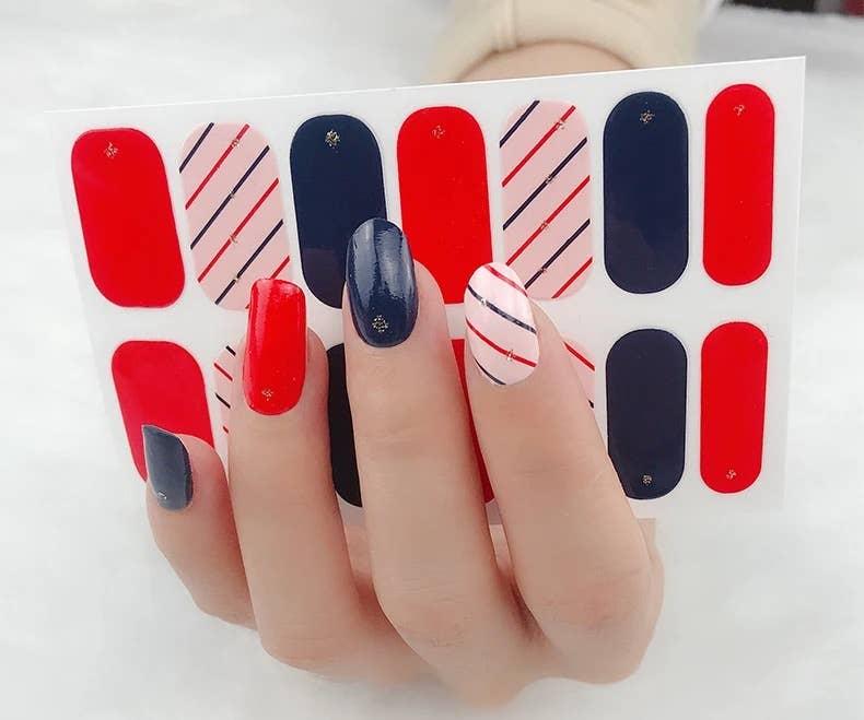 Fun Stripe Nail Polish Stickers | Trada Marketplace