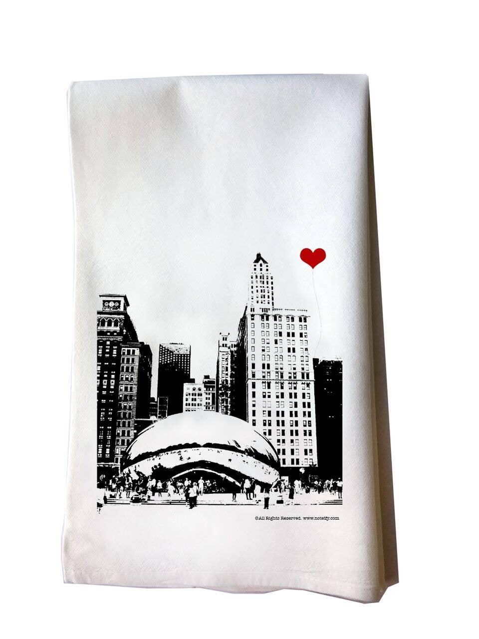 Chicago Bean Tea Towel | Trada Marketplace