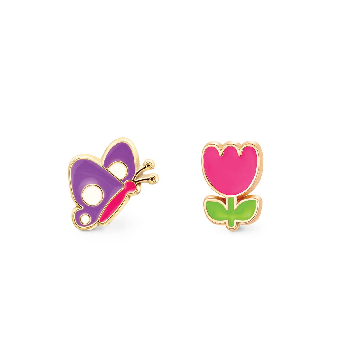 """""""The Perfect Pair""""- Flutter and Flower Cutie Studs 