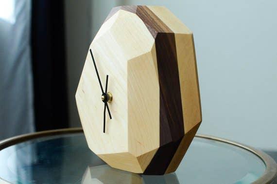 Maple Geometric Wall & Table Clock | Trada Marketplace