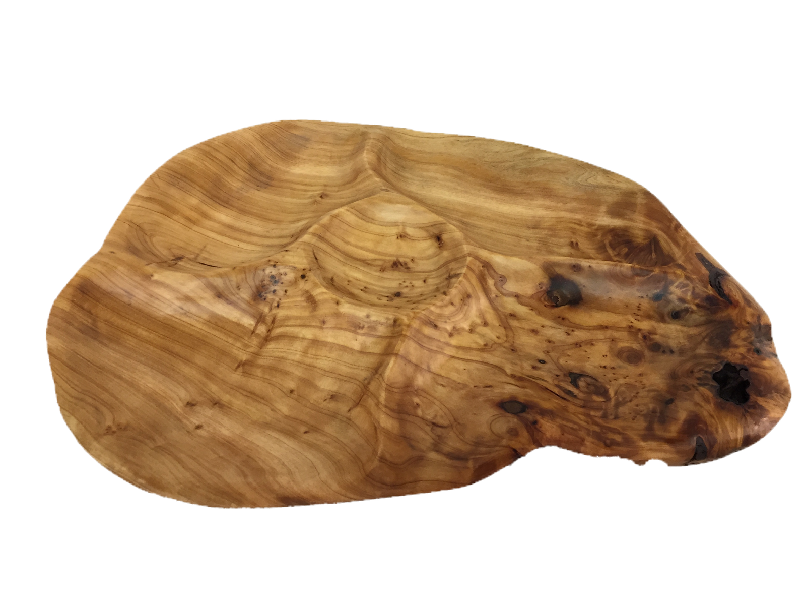 Wooden Divided Platter With Dip Cup | Trada Marketplace