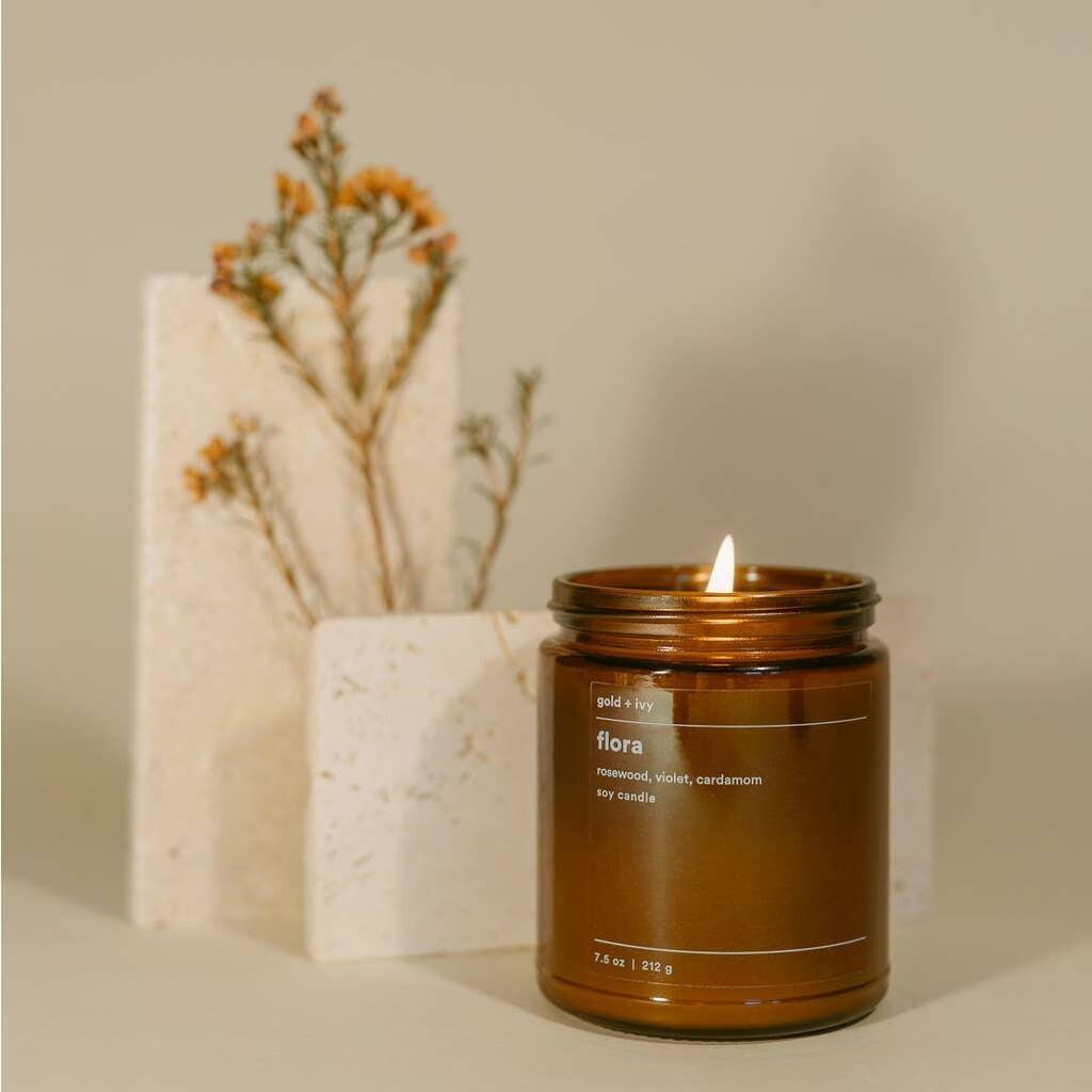 flora 7.5 oz. soy candle | Trada Marketplace