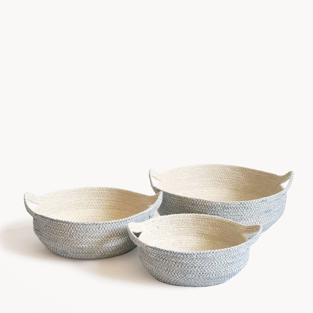 Amari Fruit Bowl - Blue (Set of 3) | Trada Marketplace