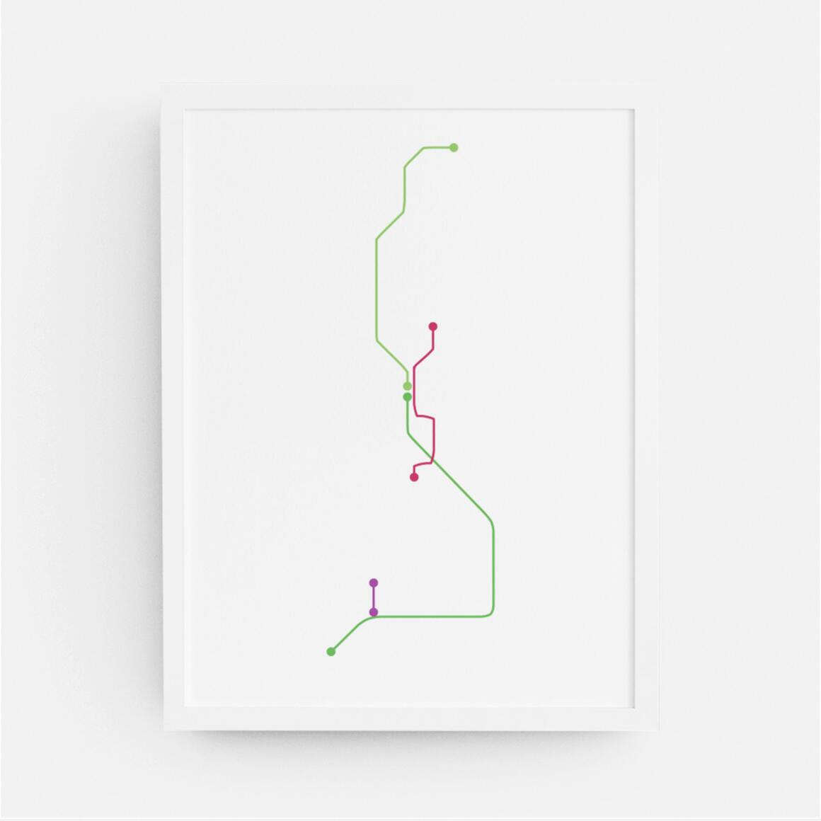 Seattle Sound Transit Map Print | Trada Marketplace