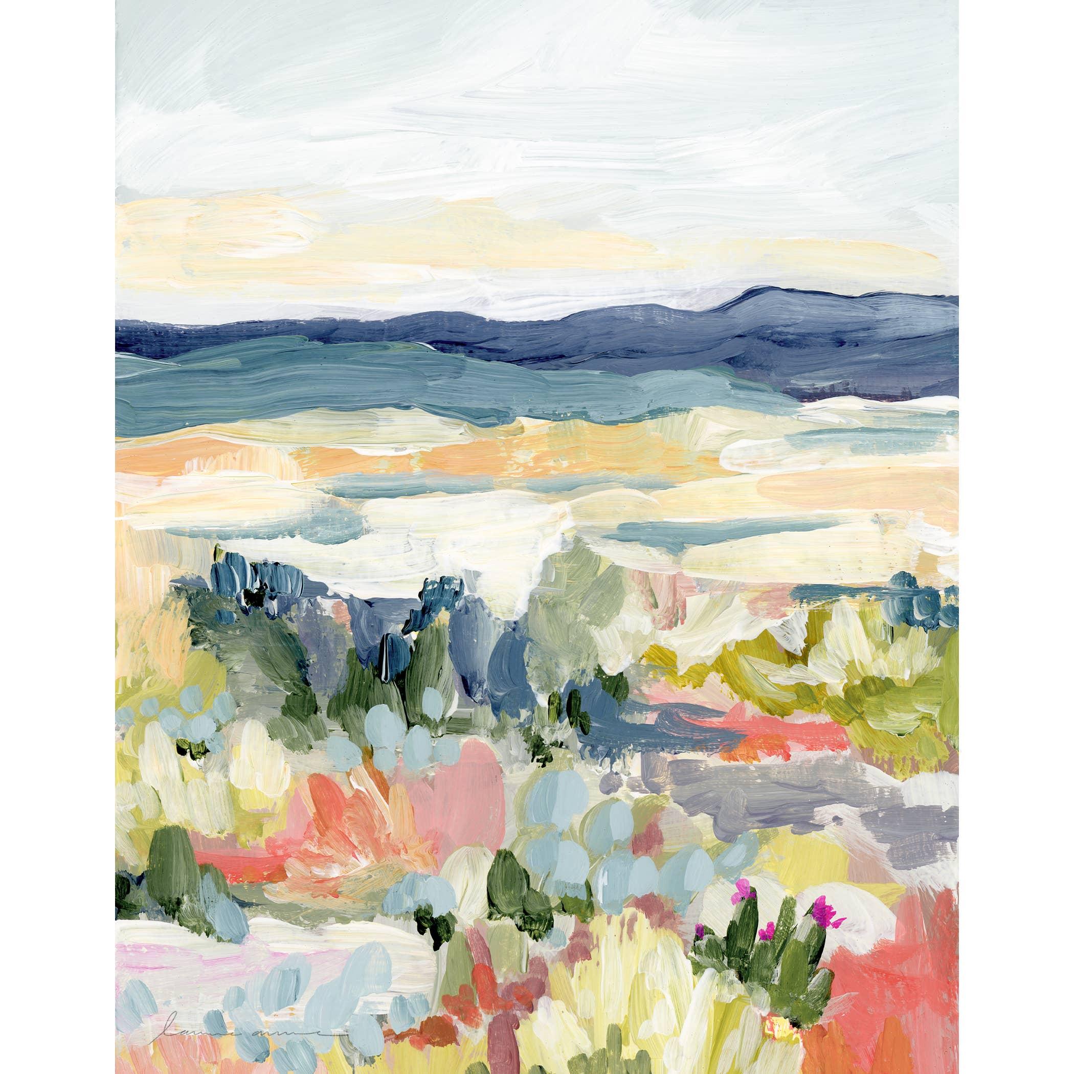 Desert Dawn Vertical Canvas Print   Trada Marketplace