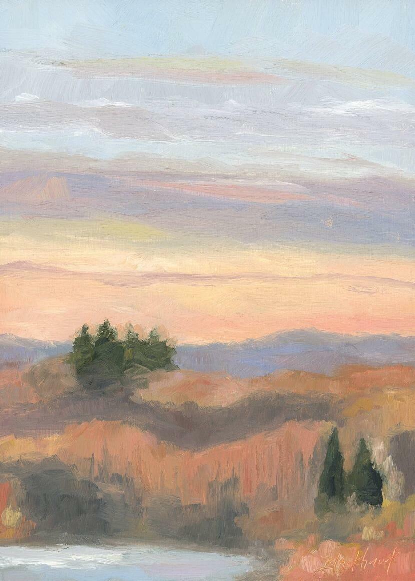 Quietude Vertical Canvas Print | Trada Marketplace