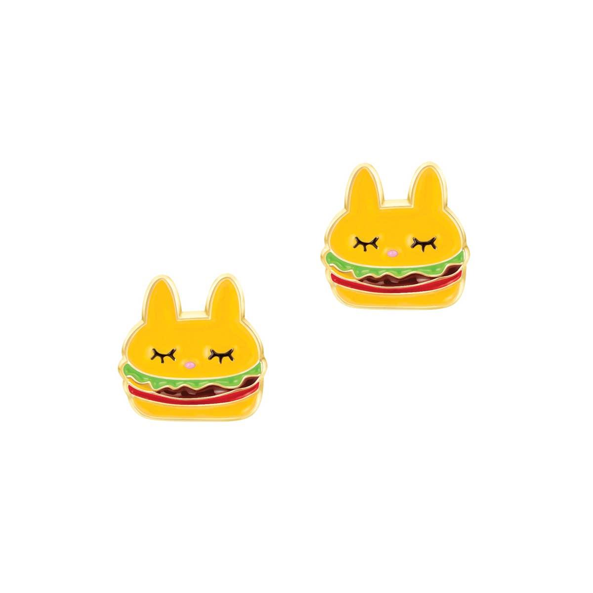 Un-Burger-lievable Cutie Enamel Studs | Trada Marketplace