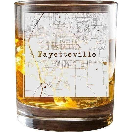 Fayetteville College Town Glasses (Set of 2)   Trada Marketplace