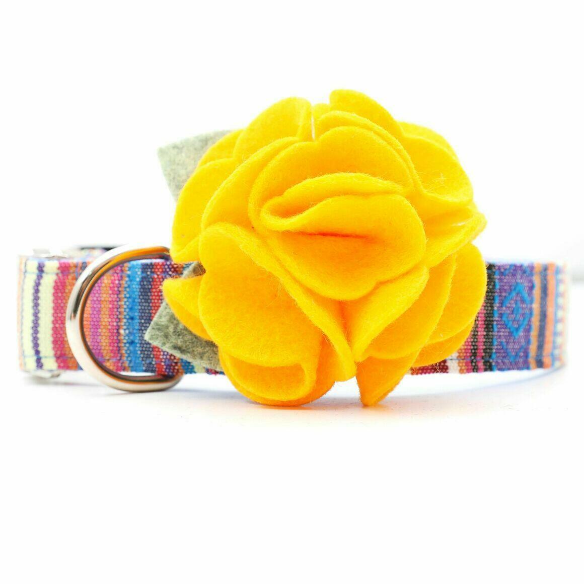 Dog Collar Hydrangea Flower - Gold   Trada Marketplace