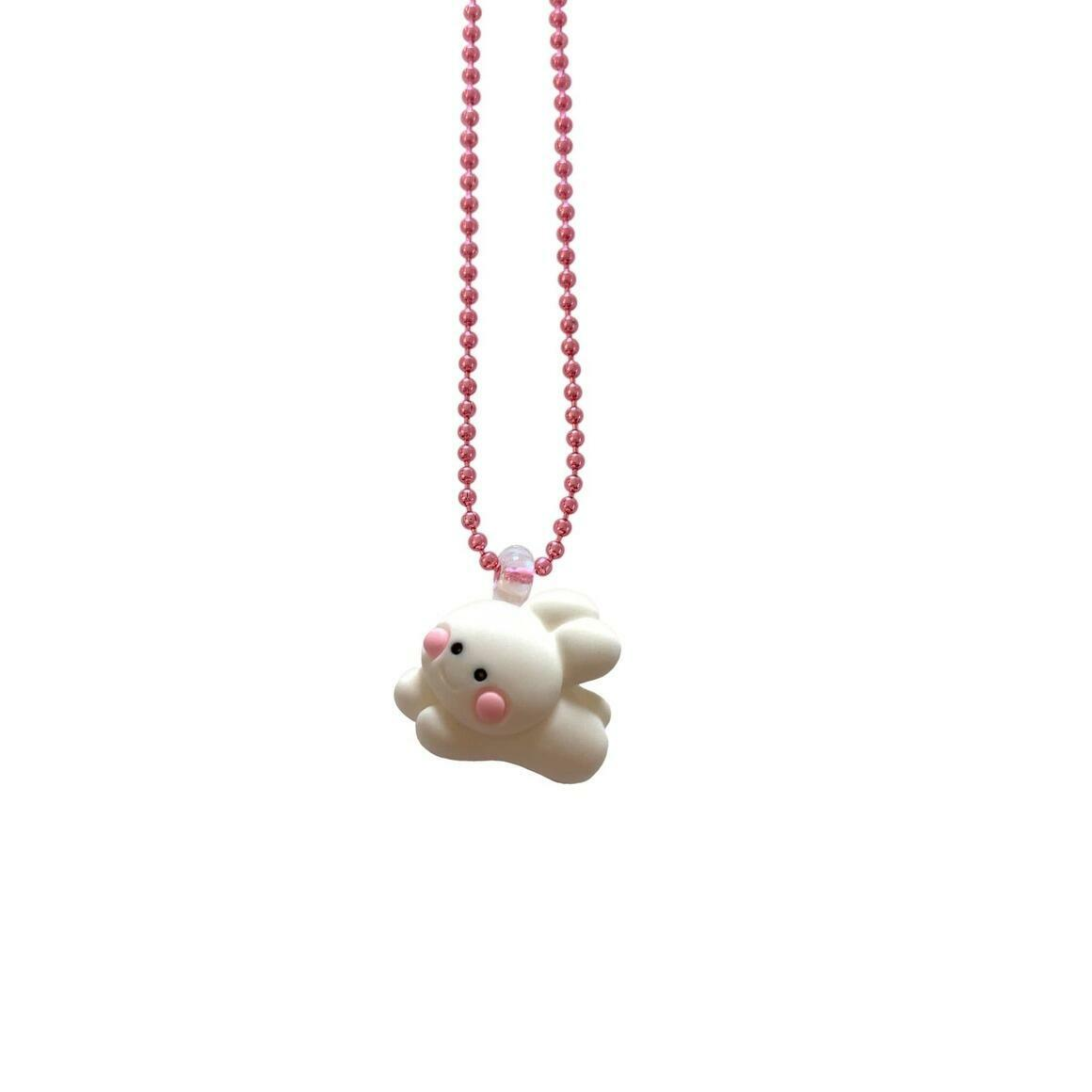 Pop Cutie Gacha Fluffy Bunny Kids Necklaces - Easter | Trada Marketplace