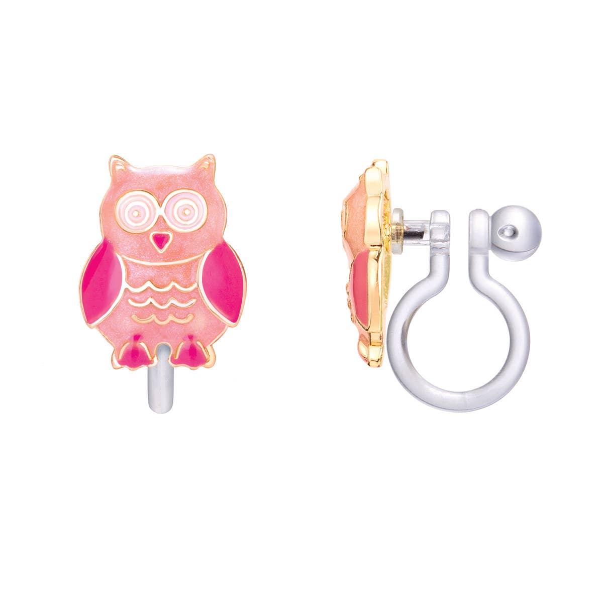 CLIP ON Cutie Earrings- Woodland Owl   Trada Marketplace