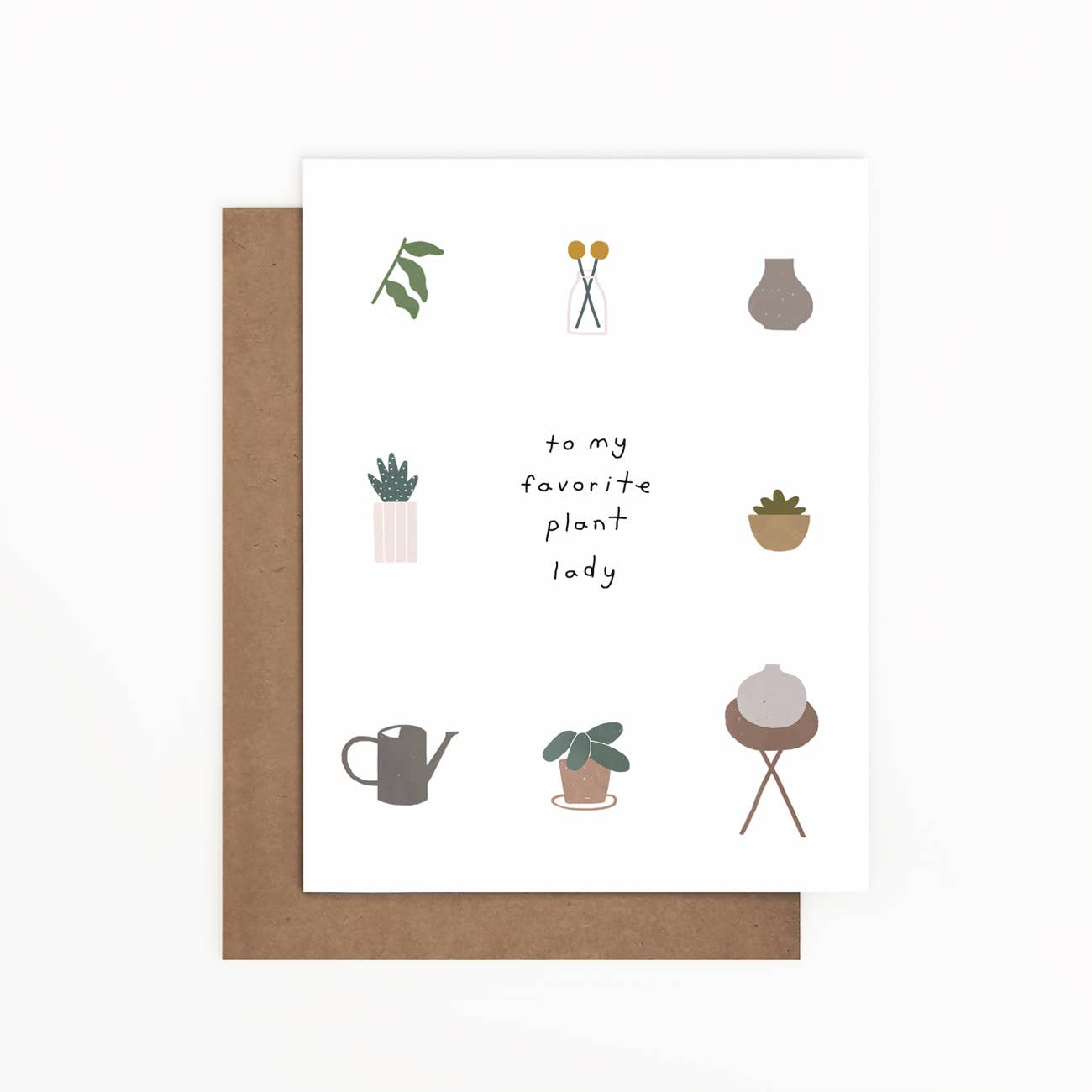 To My Favorite Plant Lady Greeting Card   Trada Marketplace