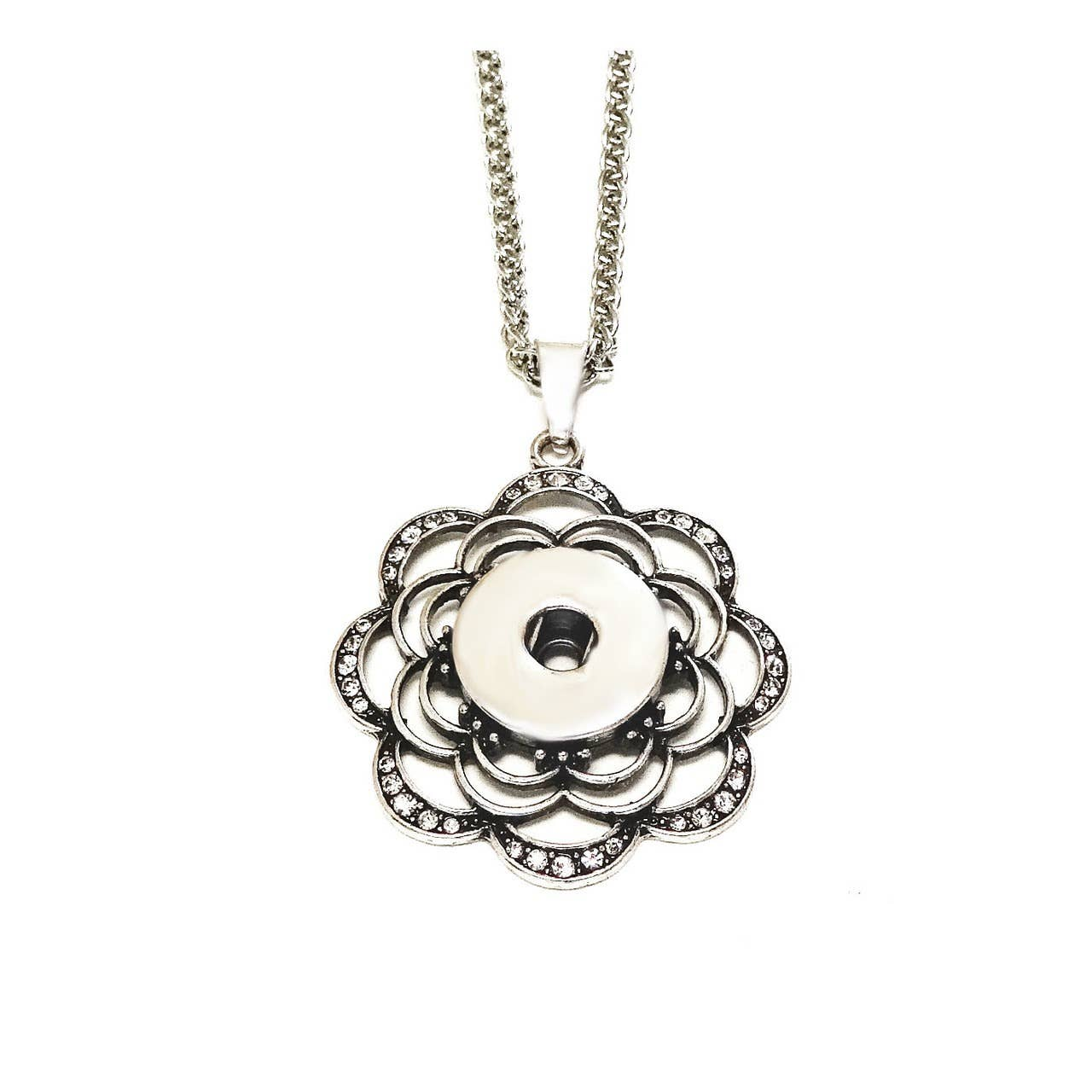 Many Swirls Snap Jewel Necklace | Trada Marketplace