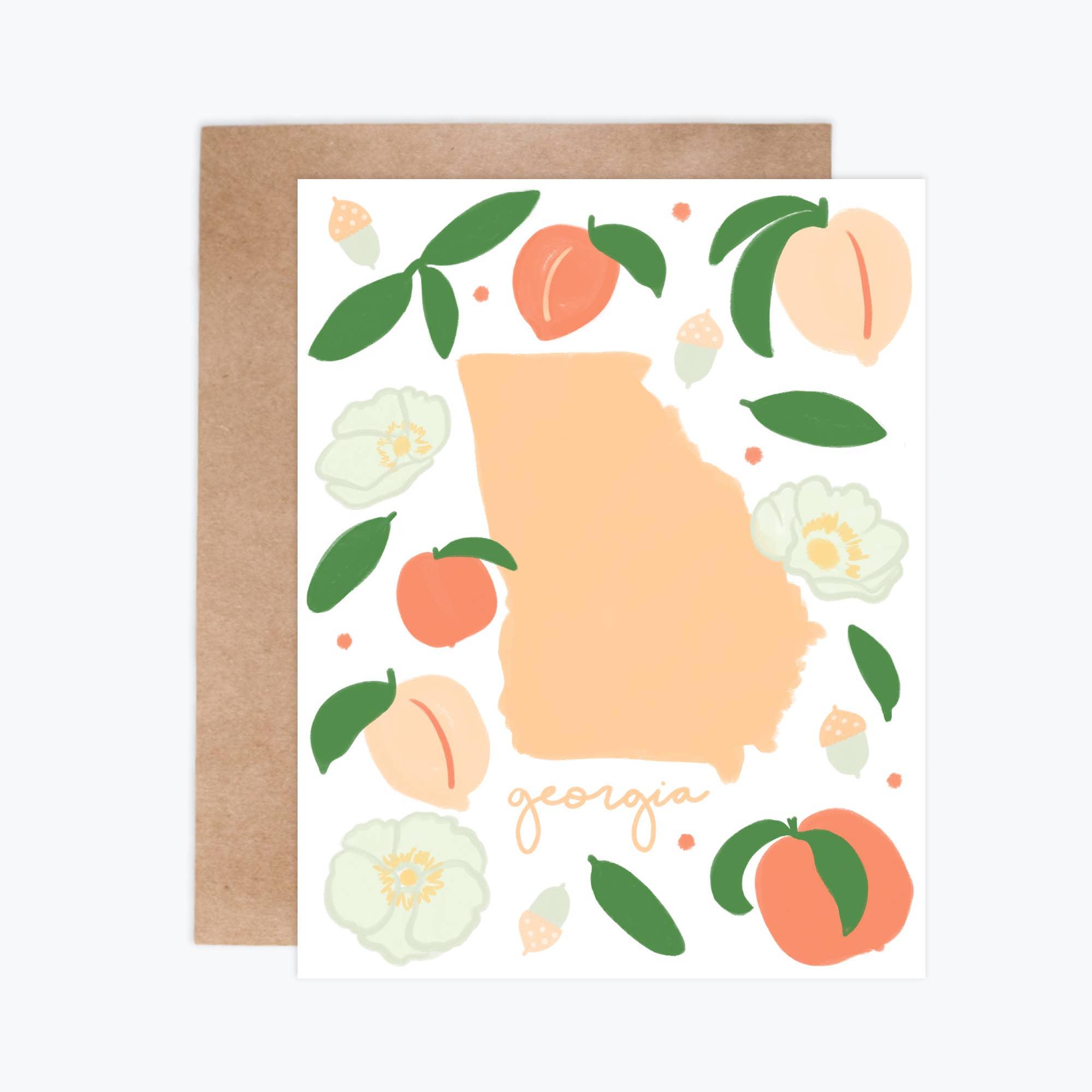 Georgia Fresh State - Notecards   Trada Marketplace