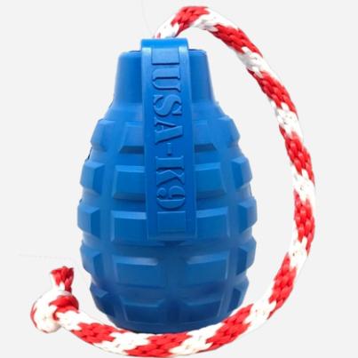 USA-K9 Grenade - Chew Toy - Reward Toy - Blue   Trada Marketplace
