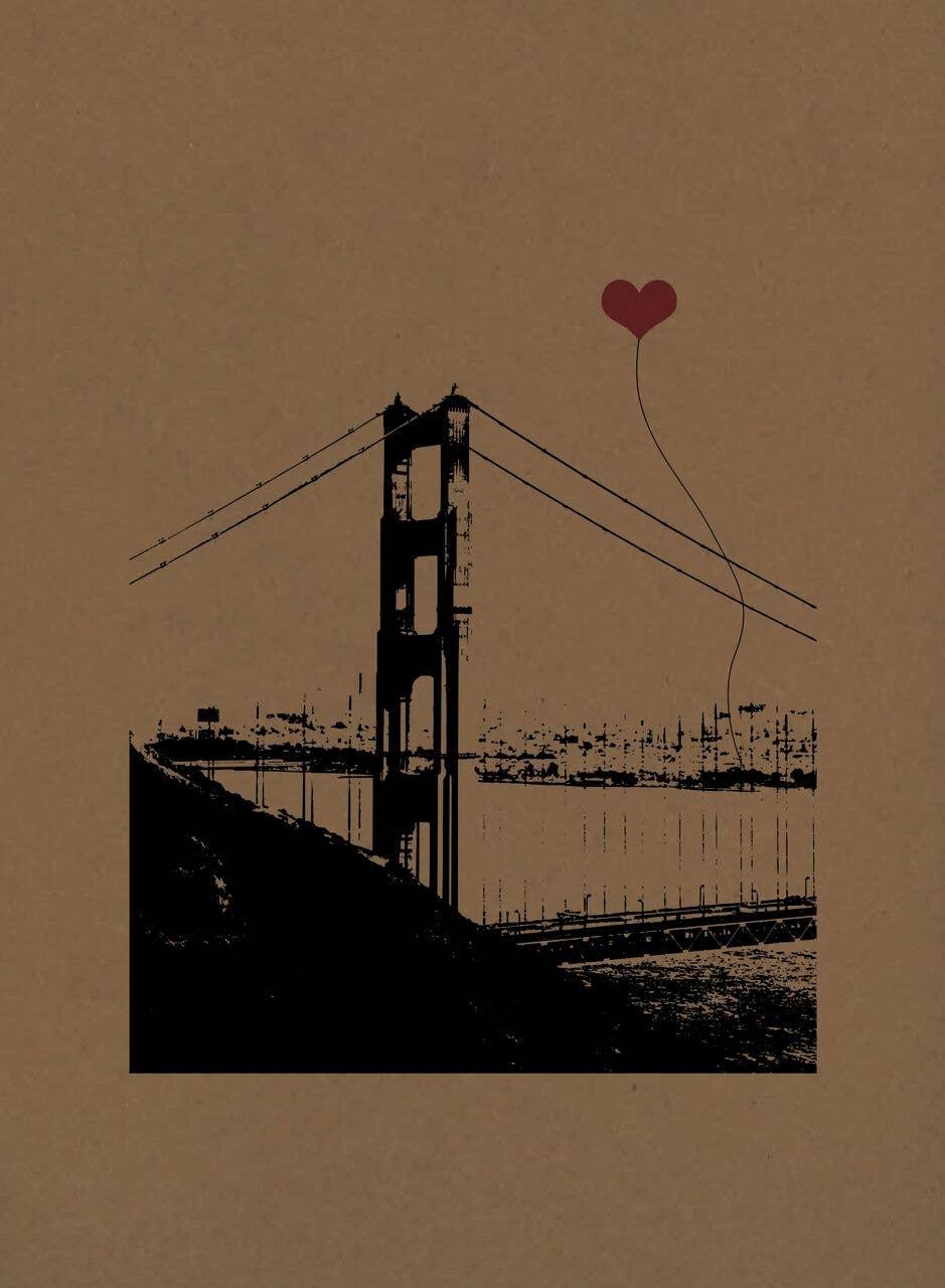 San Francisco Vertical Golden Gate Poster Print | Trada Marketplace