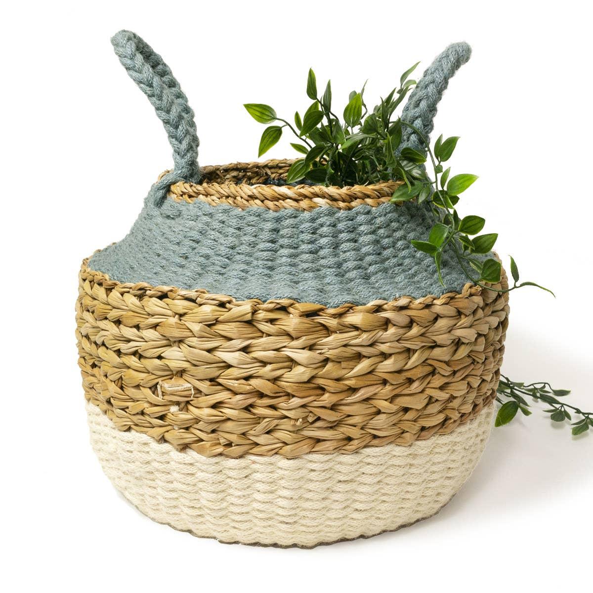 Ula Blue Foldable Basket   Trada Marketplace