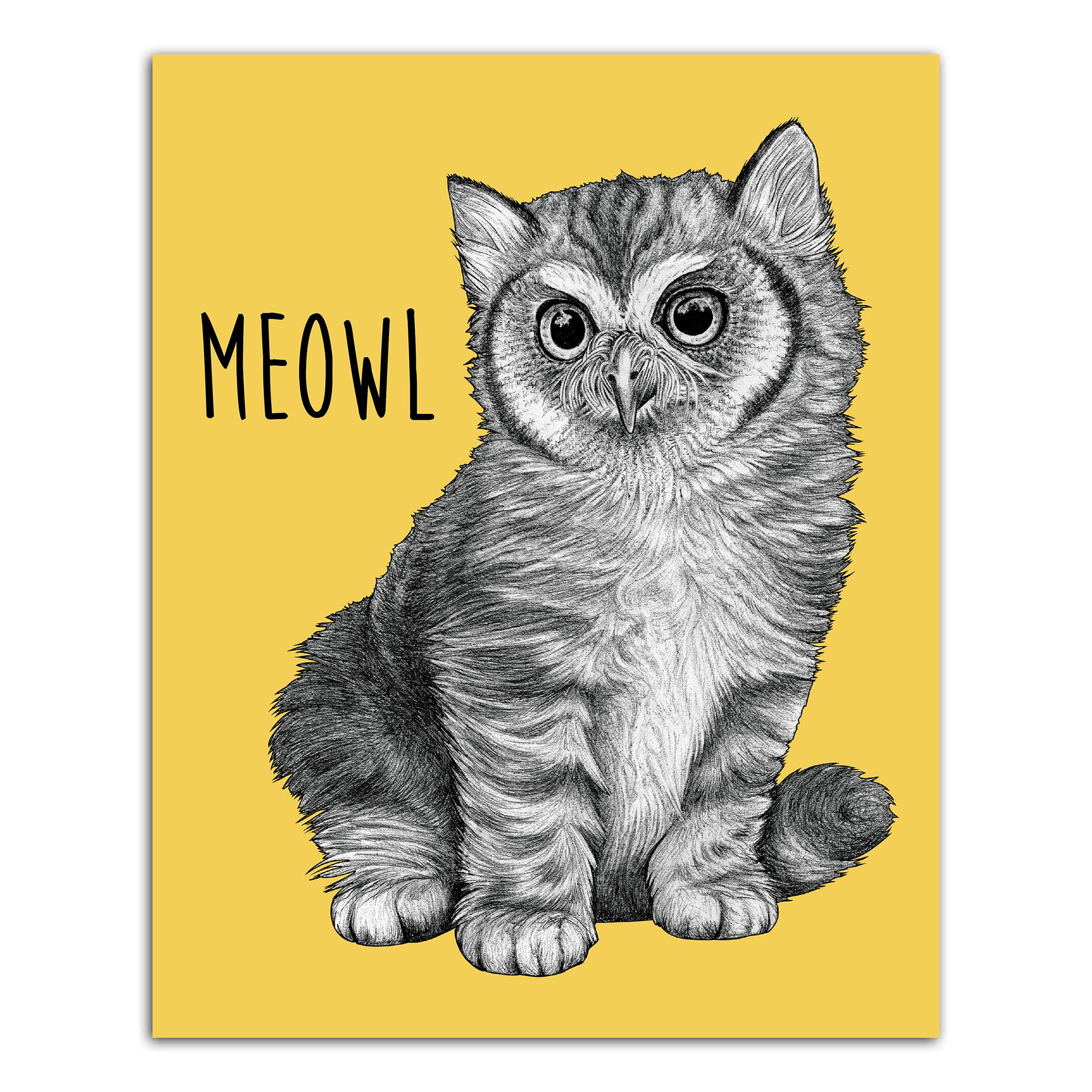 "Meowl 8x10"" Art Print   Trada Marketplace"
