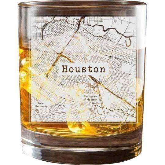 Houston College Town Glasses (Set of 2)   Trada Marketplace