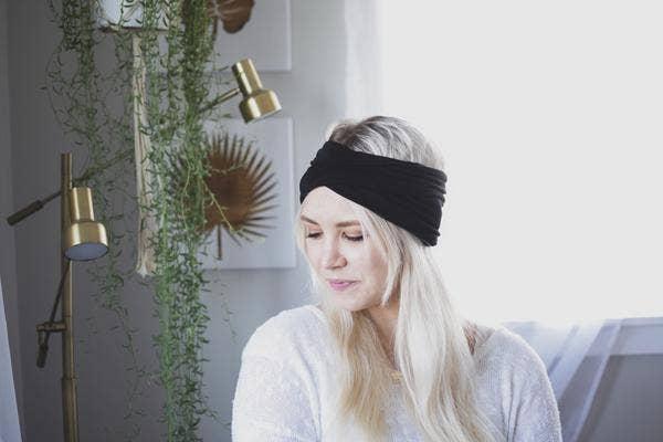 Black - Wide Headband | Turban | Twist | Yoga | Trada Marketplace