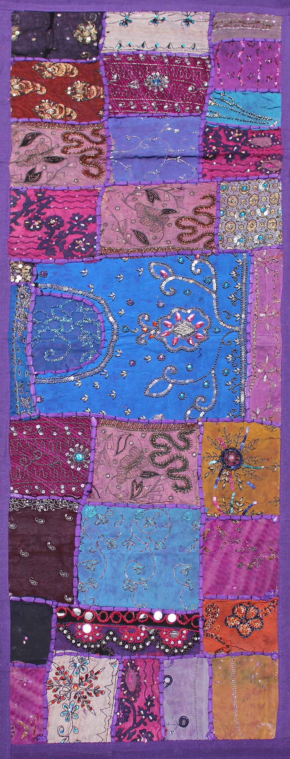 One of A Kind Vintage Hand Beaded Long Table Runner-047   Trada Marketplace