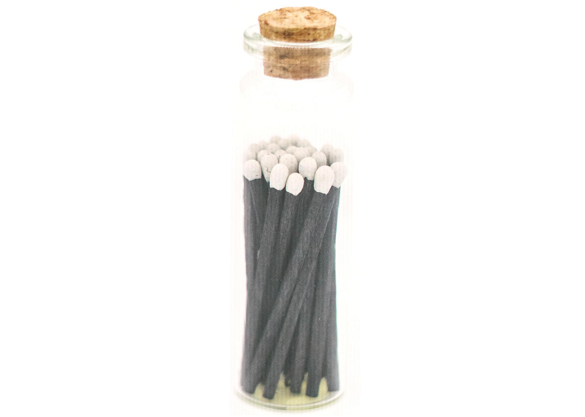 1.85in Tuxedo Decorative Matches In Jar w/ striker   Trada Marketplace