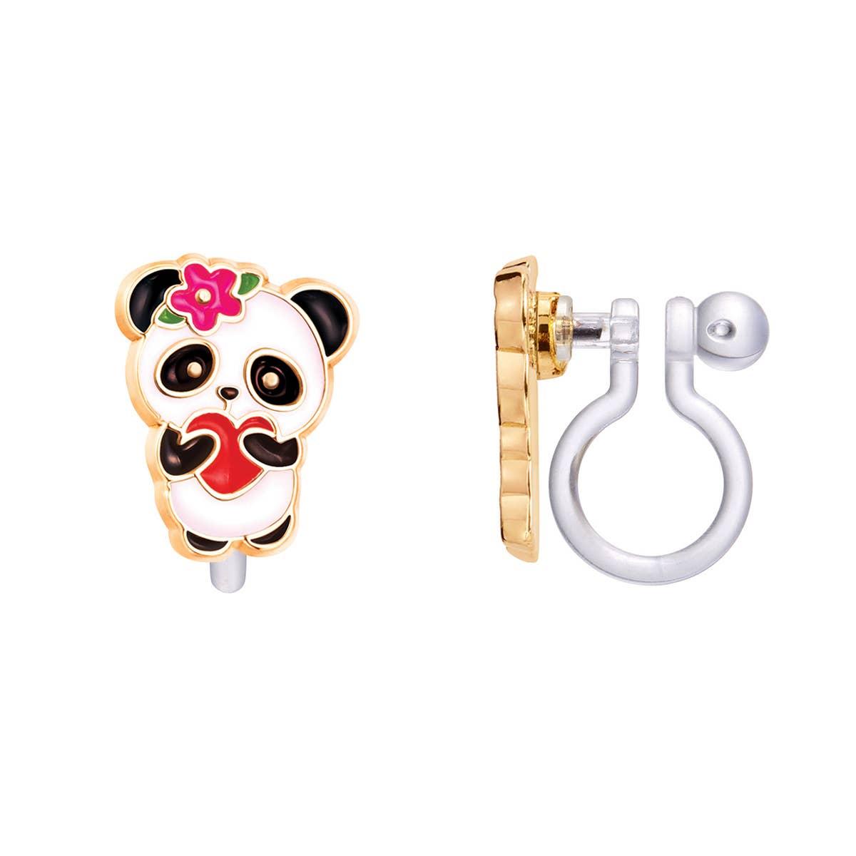 CLIP ON Cutie Earrings- Panda Love   Trada Marketplace