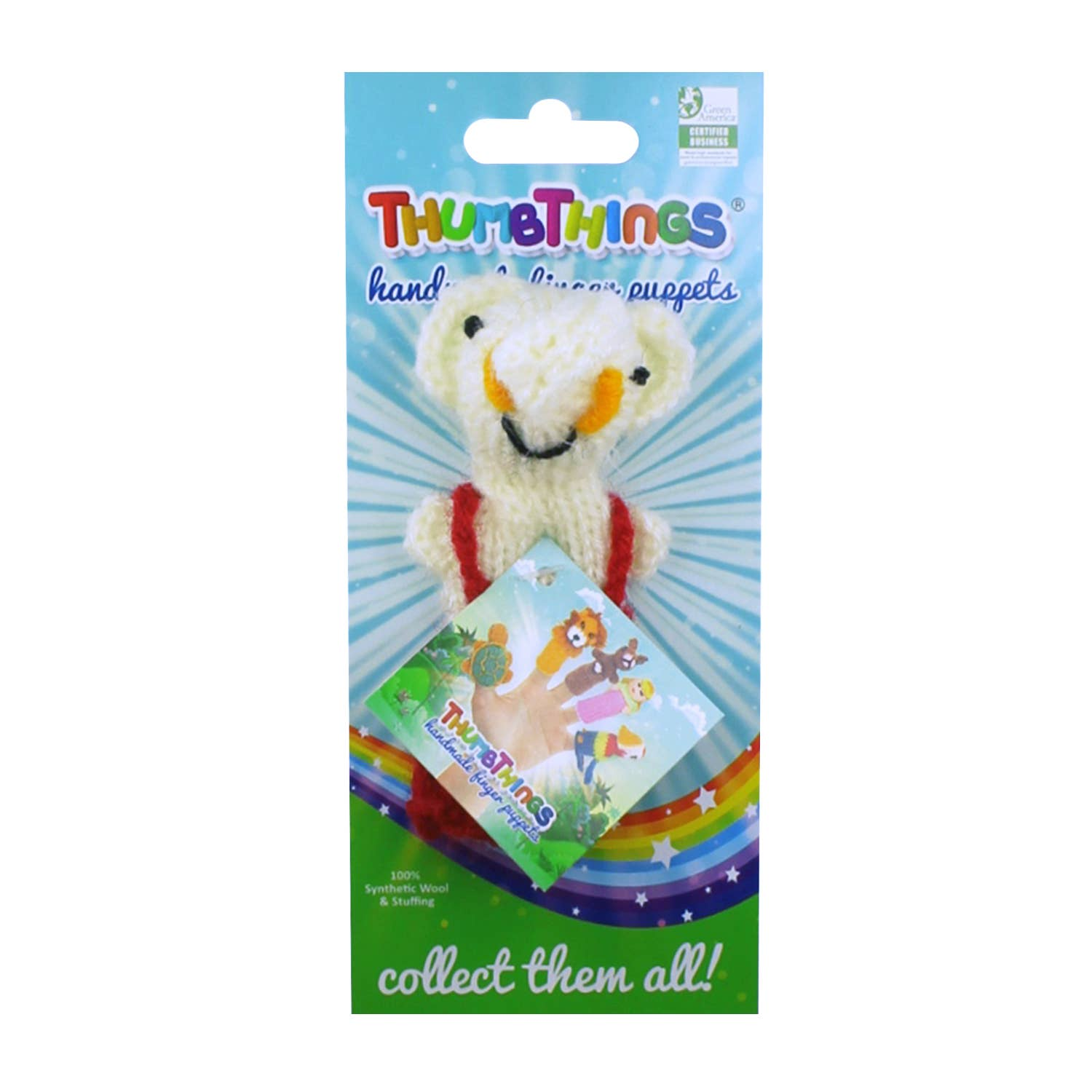 Elephant in Overalls Finger Puppet   Trada Marketplace