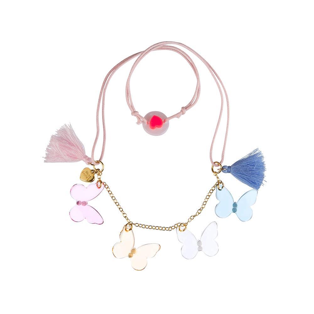 Pastel Butterflies Necklace   Trada Marketplace