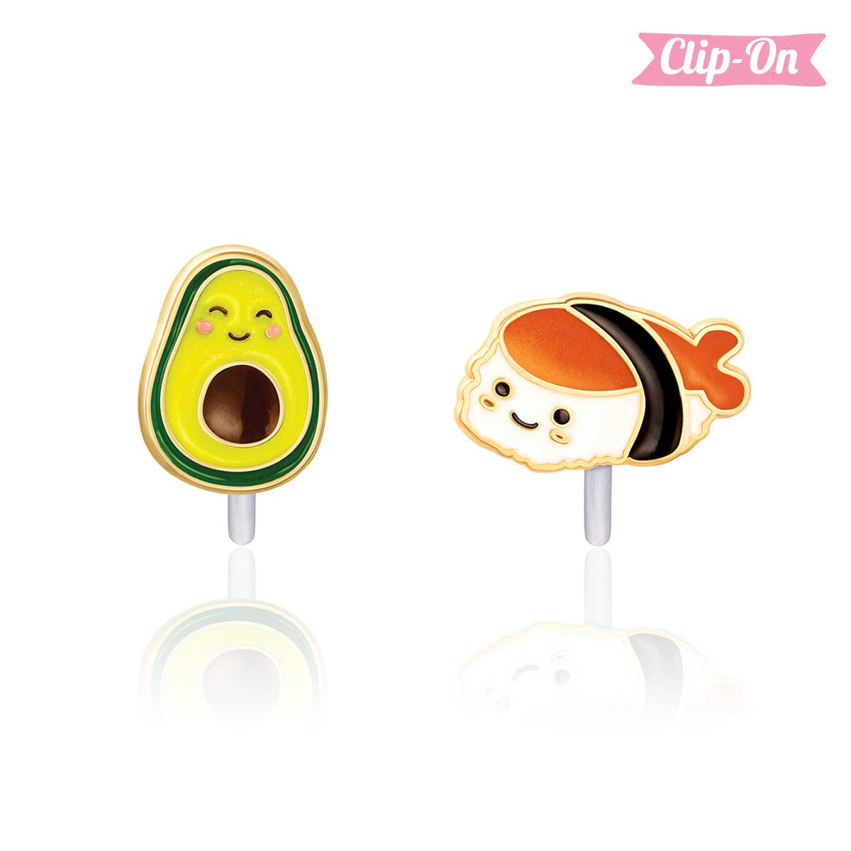 """""""The Perfect Pair""""- Guac and Roll Clip-On Earrings 